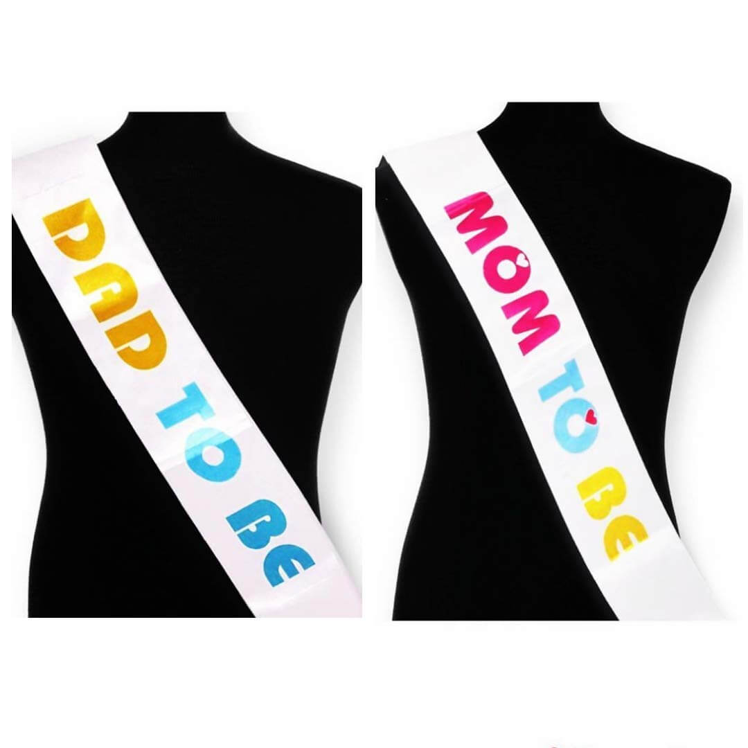 Mom Dad Sash For Baby Shower Mom Dad Sash Online India Propsicle
